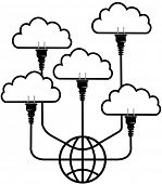 Plug in SaaS technology up to global cloud computing platform