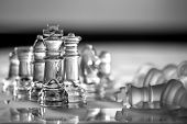 Chess Kings - business concept series - strategy, leadership, strength, win, checkmate