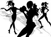 Постер, плакат: Фитнес девушки