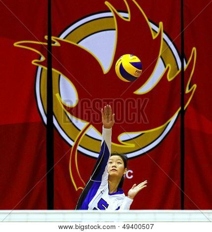 Canada Games Volleyball Woman Serve