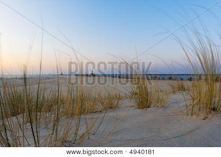 Beach In Evening Sun