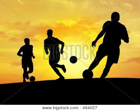 Soccer Training (Sunset)