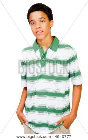 Teenage Boy With Hands In Pockets