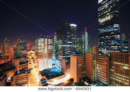 Makati Skyline At Night