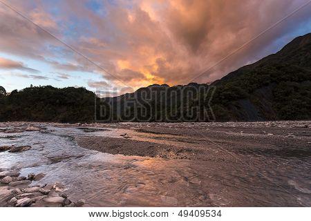 Sunset At Franz Josef Glacier
