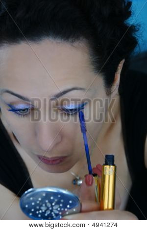 Beautiful Woman Making Make-up