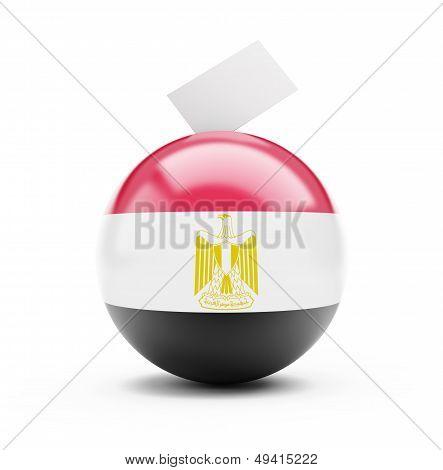 Egypt Vote On A White Background