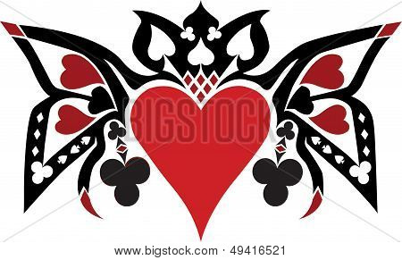 Playing cards vector - isolated on white background
