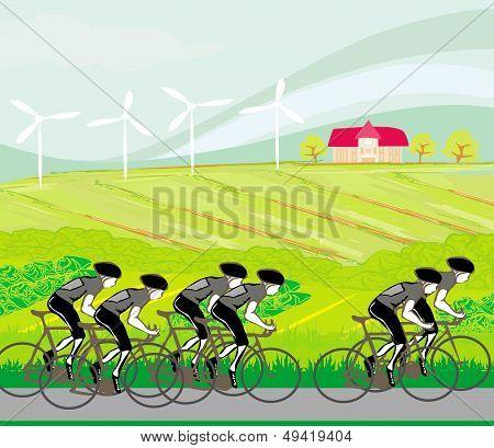 Peloton Cycling Cyclists
