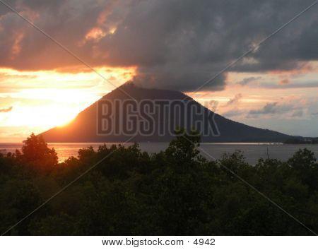 Sunset At Manado Tua