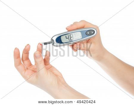 Measuring Glucose Level Blood Test