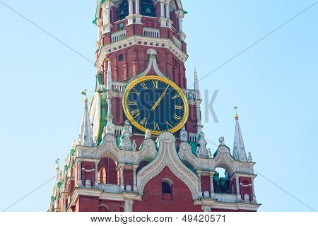 Chiming clock on the Spassky tower