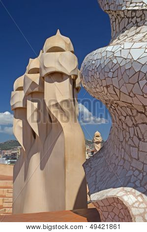 Roof Of Casa Mila (barcelona, Spain)