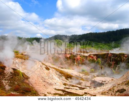 Geothermal Activity Of Hell's Gate, New Zealand