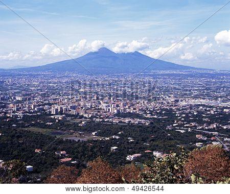 Mount Vesuvius, near Naples, Italy.