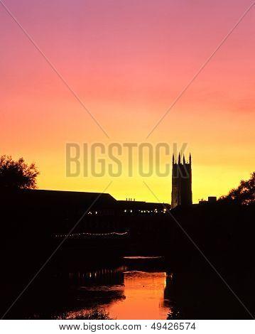 River Derwent at sunset, Derby.