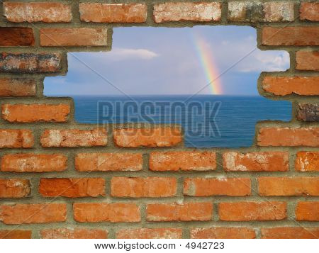 Rainbow Through The Wall