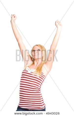 Happy Beautiful Young Asian Woman