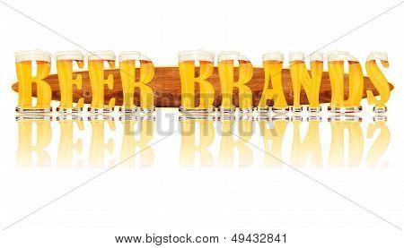 BEER ALPHABET letters BEER BRANDS