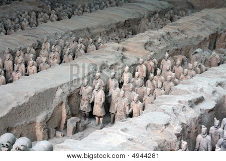 Terra Cotta Warriors In China