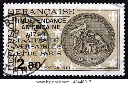 Postage Stamp France 1983 Treaties Of Versailles And Paris