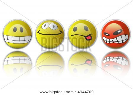 Group Smiles With Different Expressions
