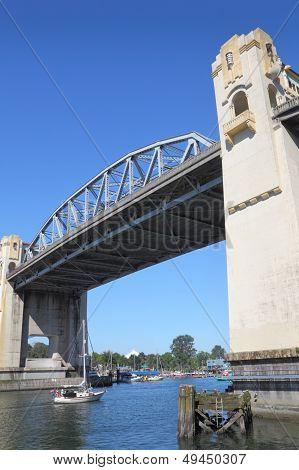 Sailboat Under Burrard Street Bridge, Vancouver