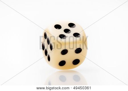White Dice On White Table