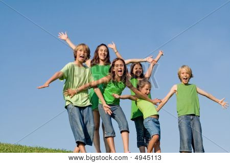 Group Of Happy Smiling Kids