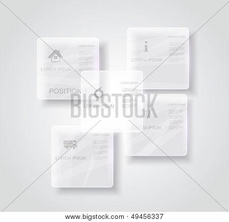 Vector Glossy Panels