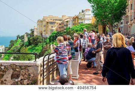 Visitors At Prince's Palace Of Monaco