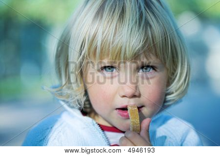 Little Girl With Bread