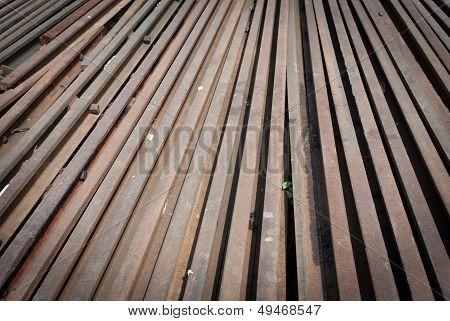 Railway Line Parts Background.