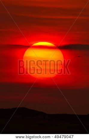 belo pôr do sol