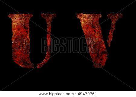 Rusty Vintage Alphabet Letters