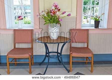 Colorful Wooden Chairs On Various Background