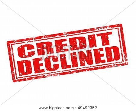 Credit Declined-stamp