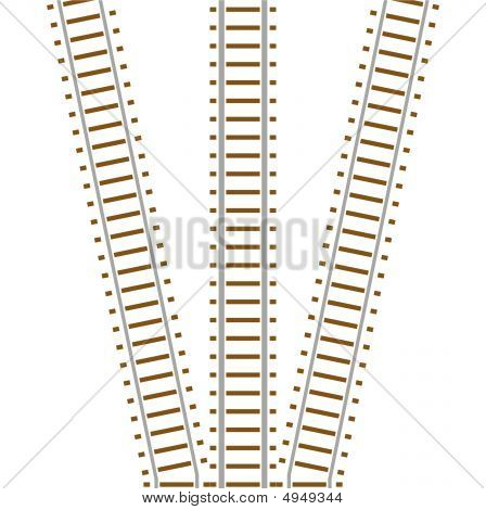 Set Of Railway Track