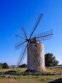 Windmill In El Pilar De La Mola, Formentera poster