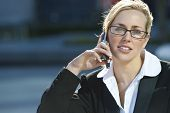 Female Executive Cell Phone Call