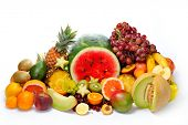 stock photo of eatables  - fresh various fruits - JPG