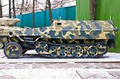 stock photo of armored car  - Old Russia military armored personnel carrier - JPG
