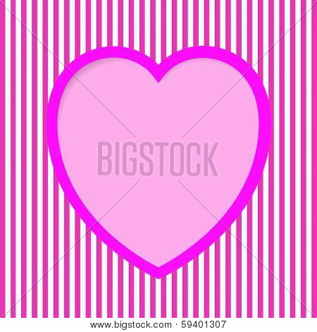Striped Valentine Card