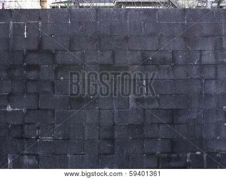 Weathered cinderblock wall