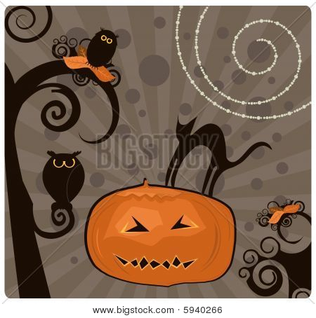 Elemento de diseño de Halloween