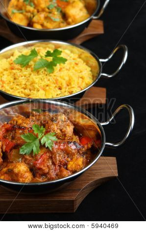 Comida Curry indio