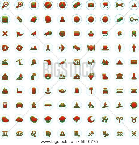 One hundred fully editable vector web icons with details ready to use