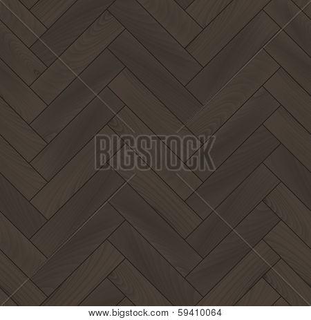 Realistic wooden floor herringbone parquet seamless pattern, vector