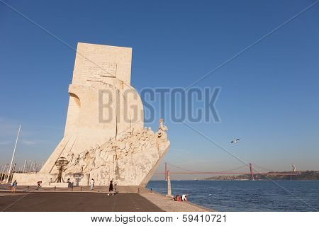 Monumento a los Descubrimientos in Lisbon Portugal