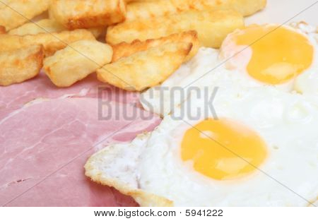 Ham, Eggs And Chips